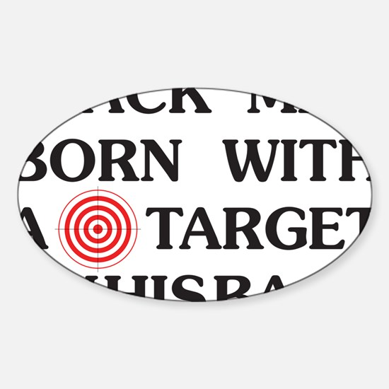 Black man target Decal