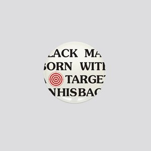 Black man target Mini Button