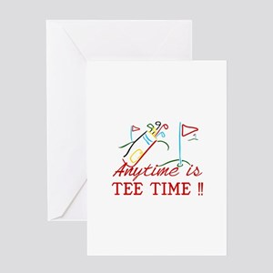 Tee Time Greeting Cards