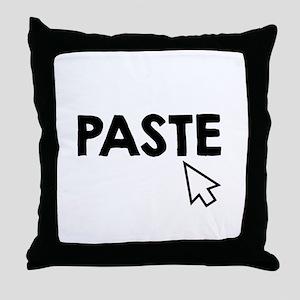 Paste Black Throw Pillow