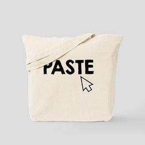 Paste Black Tote Bag