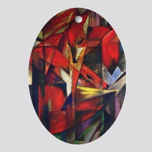 The Fox by Franz Marc Oval Ornament