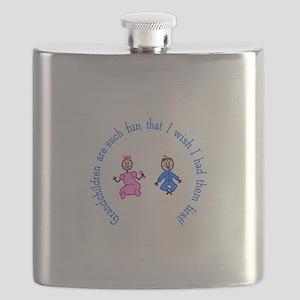 Grandchildren Are Fun Flask