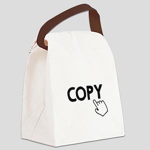 Copy Black Canvas Lunch Bag