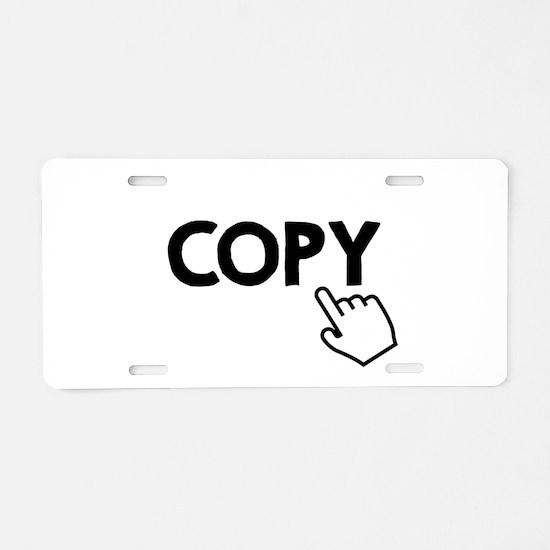 Copy Black Aluminum License Plate