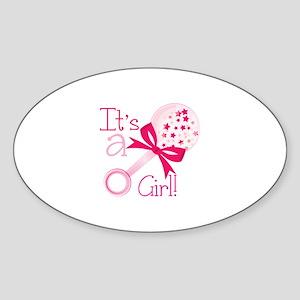 Its a Girl Rattle Sticker
