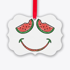 Cute Funny Watermelon Picture Ornament