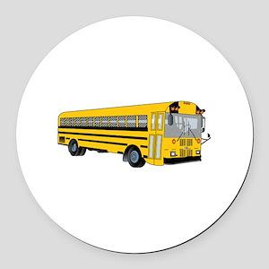 School Bus Round Car Magnet