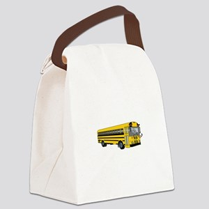 School Bus Canvas Lunch Bag