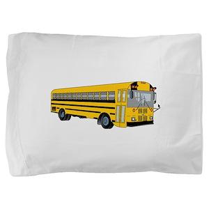 School Bus Pillow Sham