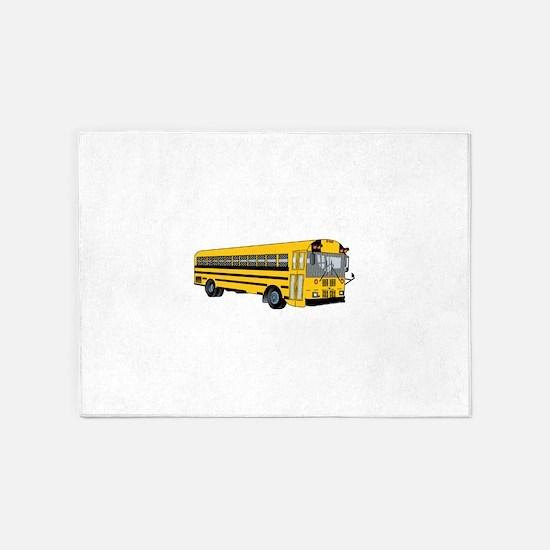 School Bus 5'x7'Area Rug
