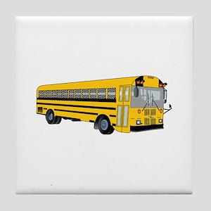 School Bus Tile Coaster
