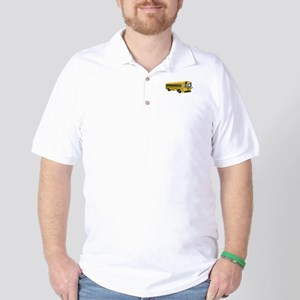 School Bus Golf Shirt
