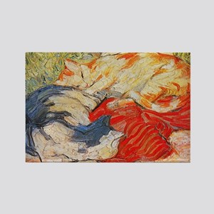 Cats by Franz Marc Rectangle Magnet