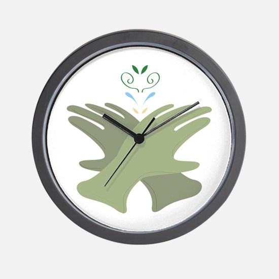 Garden Gloves Wall Clock