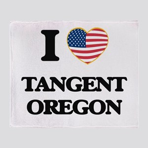 I love Tangent Oregon Throw Blanket