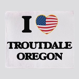 I love Troutdale Oregon Throw Blanket