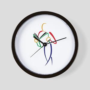 Reader Outline Wall Clock