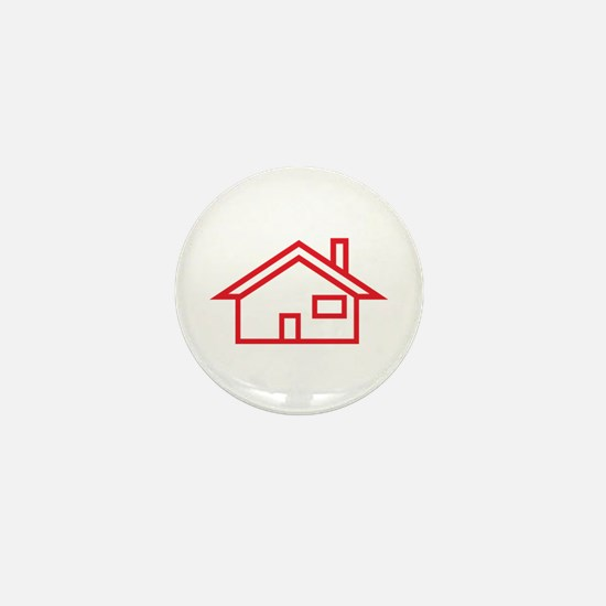House Outline Mini Button