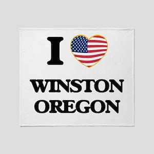 I love Winston Oregon Throw Blanket