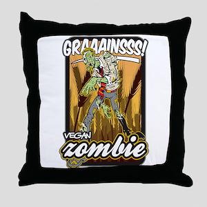 Vegan Zombie Throw Pillow