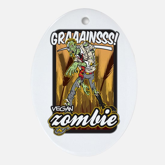 Vegan Zombie Ornament (Oval)
