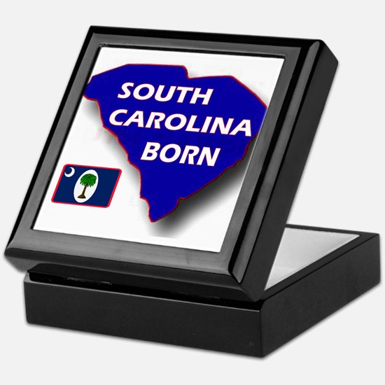 SOUTH CAROLINA BORN Keepsake Box