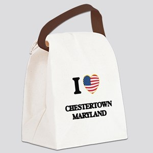 I love Chestertown Maryland Canvas Lunch Bag