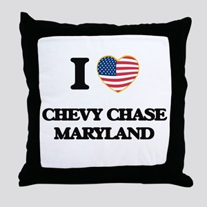 I love Chevy Chase Maryland Throw Pillow
