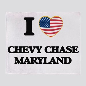 I love Chevy Chase Maryland Throw Blanket