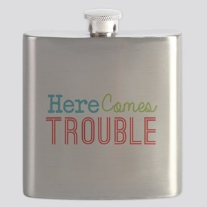 Here Comes Trouble Flask