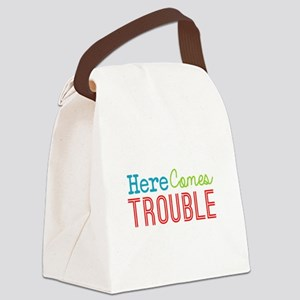 Here Comes Trouble Canvas Lunch Bag