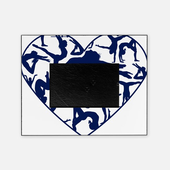 Blue Gymnastics Heart Picture Frame