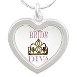 BRIDE DIVA Silver Heart Necklace