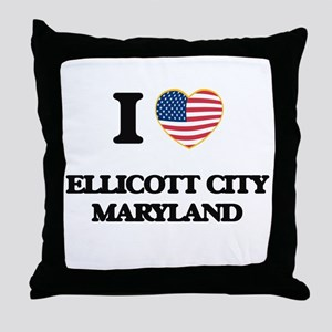 I love Ellicott City Maryland Throw Pillow