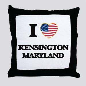 I love Kensington Maryland Throw Pillow