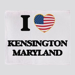 I love Kensington Maryland Throw Blanket