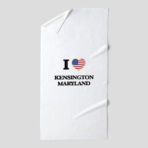 I love Kensington Maryland Beach Towel