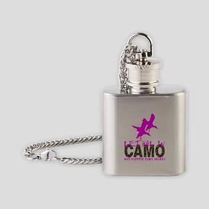 GIRL CAMO HUNTER Flask Necklace