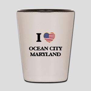 I love Ocean City Maryland Shot Glass