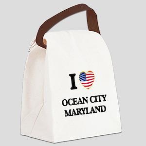 I love Ocean City Maryland Canvas Lunch Bag