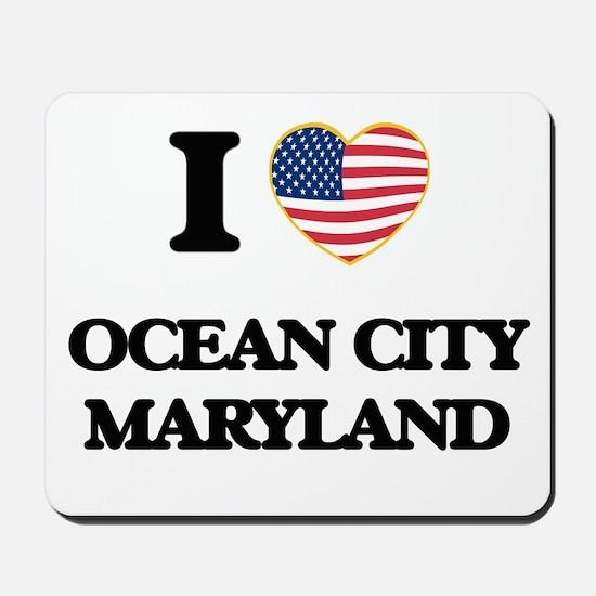 I love Ocean City Maryland Mousepad