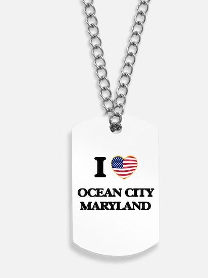 I love Ocean City Maryland Dog Tags