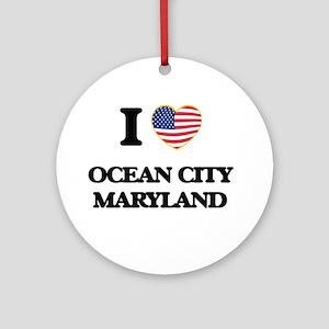 I love Ocean City Maryland Ornament (Round)