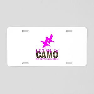 GIRL CAMO HUNTER Aluminum License Plate