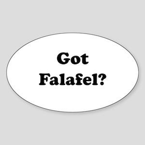 Got Falafel? Oval Sticker