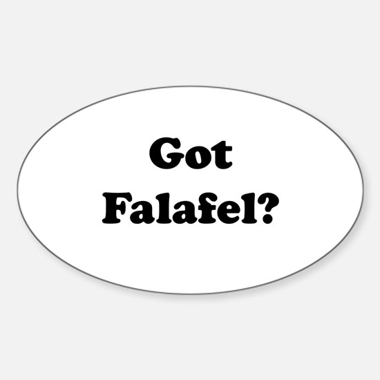 Got Falafel? Oval Decal