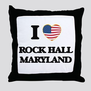 I love Rock Hall Maryland Throw Pillow