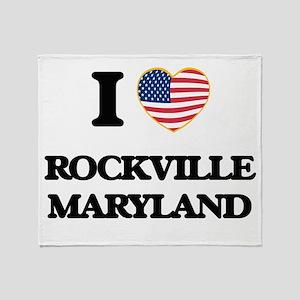 I love Rockville Maryland Throw Blanket