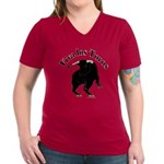 Los Toros - Bull Women's V-Neck Dark T-Shirt